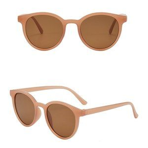 Classic Hip Hop Vintage Style Shades Unisex Round LIGHT BROWN